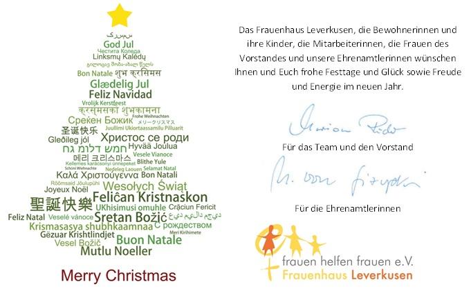 Weihnachtsgrüße Team.Weihnachtsgrüße Frauenhaus Leverkusen Tel 0214 49408